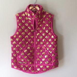 Simply Southern Elephant Quilted Vest Medium